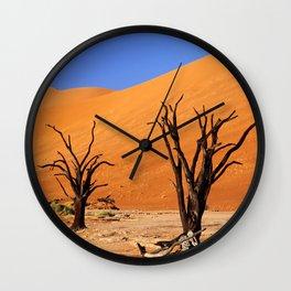 Dead Vlei Namibia IV Wall Clock