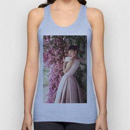 Audrey Hepburn Flowers Unisex Tank Top