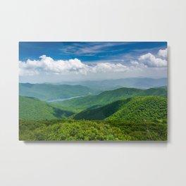 A Splendid View of the Blue Ridge Mountains Metal Print