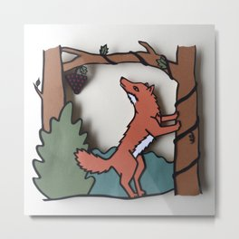 The Fox & The Grapes Metal Print
