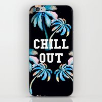 tupac iPhone & iPod Skins featuring Chill Out by Text Guy
