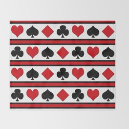 Four card suits Throw Blanket