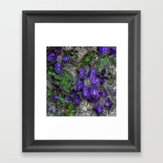VIOLETS IN STAINED GLASS Framed Art Print