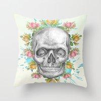 pie Throw Pillows featuring Sweetie pie by Ginger Pigg Art & Design