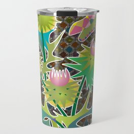floral  with thistle Travel Mug