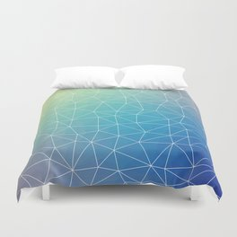Abstract Blue Geometric Triangulated Design Duvet Cover