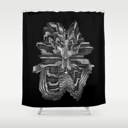splashed tut Shower Curtain