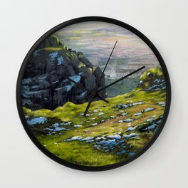 Arthur's Seat - Edinburgh Oil Painting Wall Clock