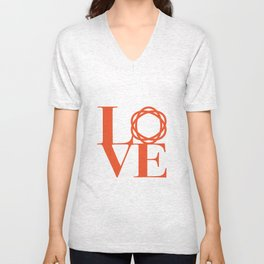 Saatchi Love Unisex V-Neck