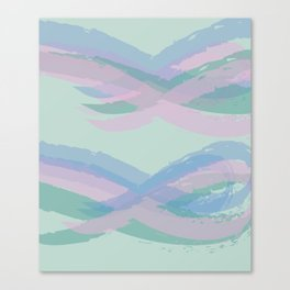 Double Mint Swooshes Canvas Print