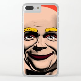 Mr Clean Pop Art on red background Clear iPhone Case