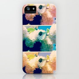 Washed Out Snowball Branch Collage (IV) iPhone Case