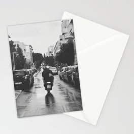 Couple in a Vespa Stationery Cards