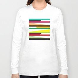 Geometric Pattern 73 (colorful stripes) Long Sleeve T-shirt