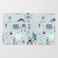 monsters Area & Throw Rugs featuring Monsters! by Fran Court