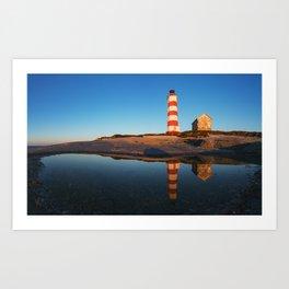 Mirrored Lighthouse Art Print