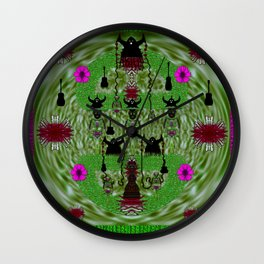 Lady Panda and her heavy metal band Wall Clock
