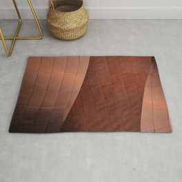 Architectural abstract of the home to the LA Philharmonic, Architect: Frank Gehry Rug