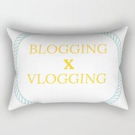 Blogging X Vlogging Canvas Rectangular Pillow