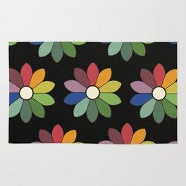 Flower pattern based on James Ward's Chromatic Circle (vintage wash) Rug