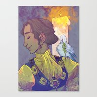 dragon age inquisition Canvas Prints featuring Josephine Montilyet - Dragon Age Inquisition by Allen Lim