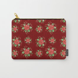 Red Pansies Carry-All Pouch