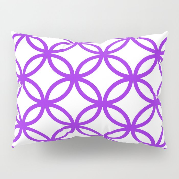 Interlocking Purple Pillow Sham