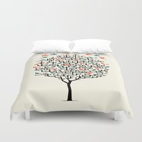line Duvet Covers featuring Out On a Lark by Oliver Lake