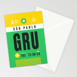 Luggage Tag A - GRU Sao Paulo Guarulhos Brazil Stationery Cards