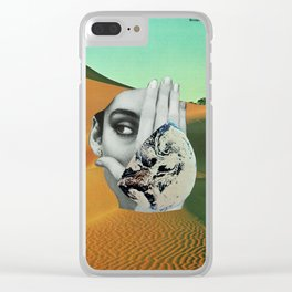 Earth to People Clear iPhone Case