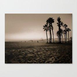 Santa Monica Beach - Art Canvas Print