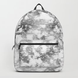 scrubbed silver marble Backpack