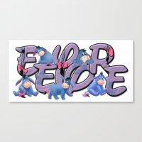eeyore Canvas Prints featuring Eeyore  by Mix-Master