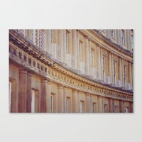 bath Canvas Prints featuring Bath by OttilieNikitaAmy