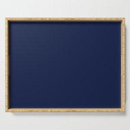 Navy Blue Minimalist Solid Color Block Serving Tray