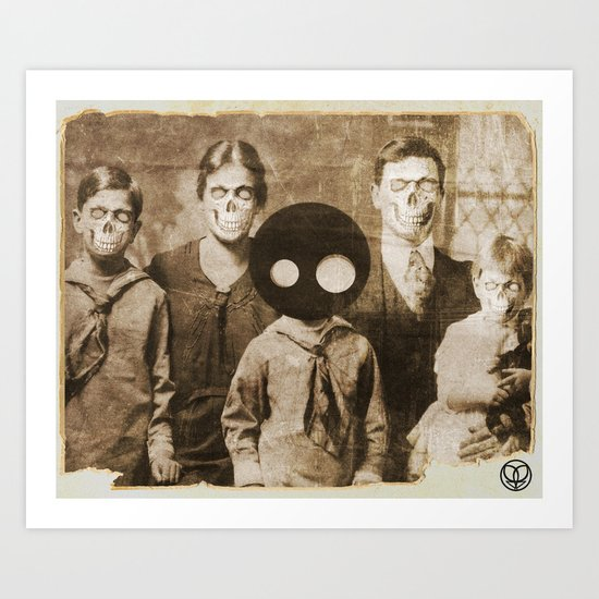 the weird in the family Art Print