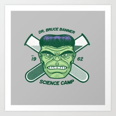 Dr. Banner Science Camp Art Print