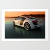 audi Art Prints featuring Audi R8 by Rory Trappe