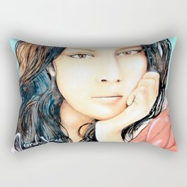 Norah Jones Mural Rectangular Pillow