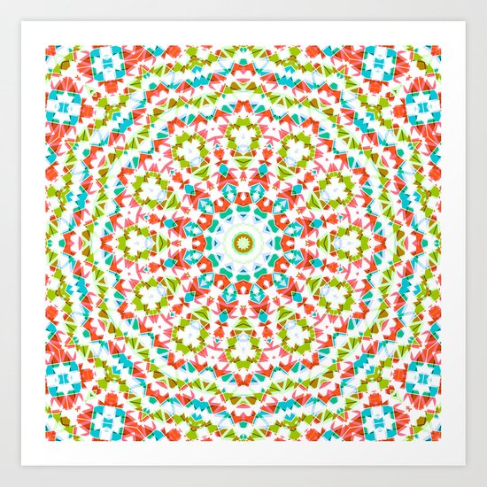 Kaleidoscope . Village . Art Print