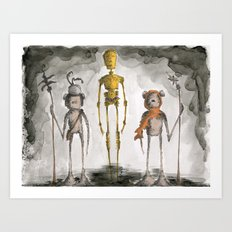 The Golden One Art Print