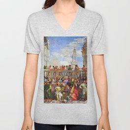 Paolo Veronese The Wedding at Cana Unisex V-Neck