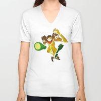 samus V-neck T-shirts featuring SAMUS by Jemma Salume