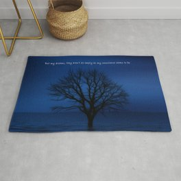 Behind Blue Eyes | Inspired Lyric Art Print Rug