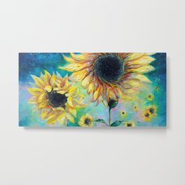 Supermassive Sunflowers Metal Print