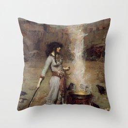 The Magic Circle, John William Waterhouse Throw Pillow