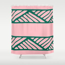 Boho Ethnic Pattern No 02 - Pink and Green Shower Curtain
