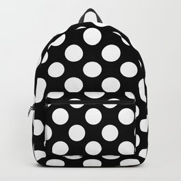 Black and white polka dots pattern Backpack