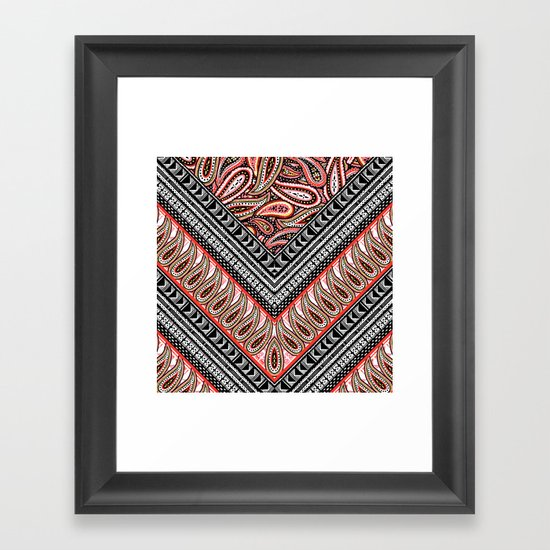Paisley Crazy Framed Art Print