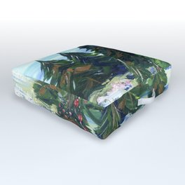 Field of Christmas Trees Outdoor Floor Cushion